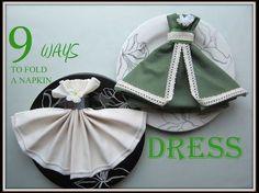 Napkin Folding: 9 Ways to Fold a Napkin Dress Napkin Folding: 9 . Fancy Napkin Folding, Folding Napkins, Romantic Dinner For Two, Dining Etiquette, Table Arrangements, Handmade Home Decor, Paper Napkins, Cloth Napkins, Napkin Rings