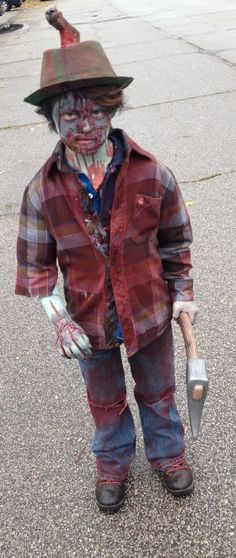 DIY Zombie Kid, Scary Child Zombie, One of a Kind Costume
