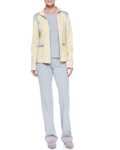 3-Piece Striped Jogset, Yellow/Grey - Neiman Marcus
