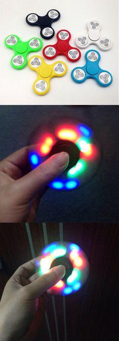 US$5.99 Sparkle LED Hand Spinner Flash Finger Spinner EDC Relieve Stress Fidget Desk Toy