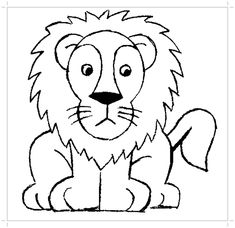 Dessin Lion Facile Recherche Google Jellabas Lion Collage Et Bee