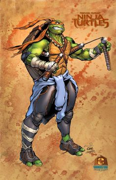 Michaelangelo of the Teenage Mutant Ninja Turtles by Cadre on deviantART