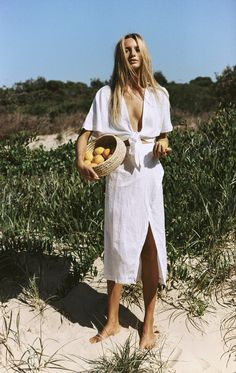 Maya Stepper stars in the ultra beachy inspo for Australian women's fashion brand SIR The Label, photographed by Brydie Mack.