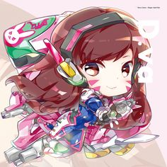 Dva Keychain by hecoheio on DeviantArt Overwatch Comic, Overwatch Video Game, Chibi Overwatch, Kaito, Bunny Names, Overwatch Drawings, Overwatch Wallpapers, Anime Version, Kid Icarus