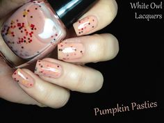 Fashion Polish: White Owl Lacquers After all this Time Review....Pumpkin Pasties : 2 coats plus topcoat