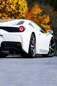 Matte White Ferrari 458