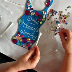 Have the kids make this funny handmade Mother's Day gift this year that might help you get more sleep! It's a super easy kids craft for Mother's Day the kids will love doing, too. #kids #kidscraft #mothersday #mothersdaygift #mother #mothers #craft #crafting #preschoolers #easy #binspiredmama
