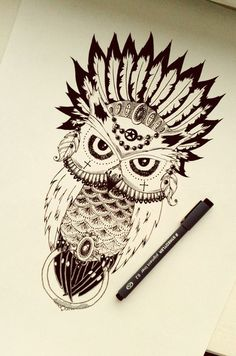 Owl scetch Repin & Like plz. Thanks . Also listen to Noel's songs. Noelito Flow.