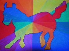 Artsonia - crazy animal color wheels - a good way to teach complementary colors.