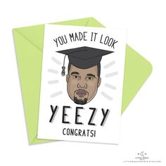 Printable Kanye West Graduation by littlemagicprints on Etsy
