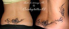 tatouage bas du dos femme tribal à la mode