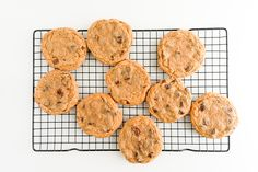 Chocolate Chip Graham Cracker Cookies - try with oatmeal flour and in bar form.