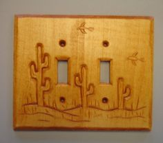 New design double switch cover plate by creativemind44 on Etsy, $32.00