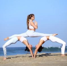 50 Fantastic Yoga Poses You Can Try In 2019 50 Fantastic Yoga Poses You Can Try In can be done any where and anytime. If you are a yoga lover, then you can do yoga by yoursel Acro Yoga Poses, Partner Yoga Poses, Yoga Moves, Dance Poses, 3 Person Yoga Poses, Group Yoga Poses, Yoga Exercises, Pilates Yoga, Pilates Reformer