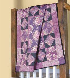 "Purple ""Victorian"" quilt idea."