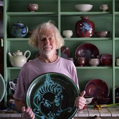 #unique #handmade works of art by Michael Pugh of Middle Earth Pottery in Buderim. #mastercraftsman ...