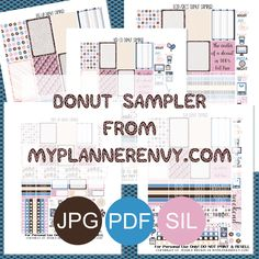 Free Printable Donut Sampler from myplannerenvy.com
