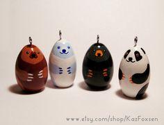 #Bear Figurine or Seasonal #Ornament by Kaz Foxsen on Etsy, $30.00. Brown bear, polar bear, black bear, panda. #xmas #Christmas #panda