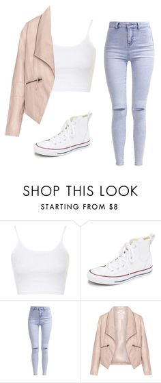 """Wednesday"" by idapolyvore ❤ liked on Polyvore featuring Topshop, Converse, New Look and Zizzi"