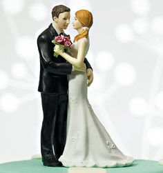 """Romantic Dip"" Dancing Couple Wedding Cake Topper"