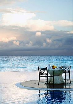Private dining at JW Marriott Cancun Resort Spa Cancun Resorts, Vacation Resorts, Dream Vacations, Vacation Spots, Cancun Wedding, Romantic Places, Romantic Moments, Am Meer, Plein Air