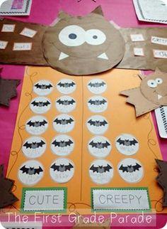 "Bat Graph: ""Cute or Creepy?"" Crafts and graph!"