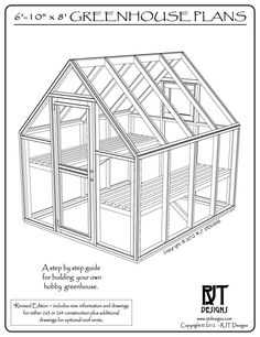 Bepa's Garden - Revised greenhouse plans, now include drawings for either 2x3 or 2x4 construction.