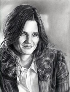 John DiBiase's drawing of his muse Kate Beckett (Stana Katic) in Castle