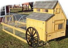 chicken coop on wheels plans | Board and Batton / Portable A-Frame Style Chicken Coops on Wheels