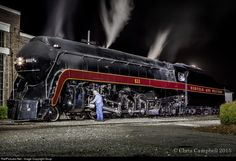 RailPictures.Net Photo: NW 611 Norfolk & Western Steam 4-8-4 at Spencer, North Carolina by Soup