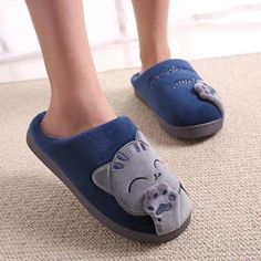 cat lover plush slippers