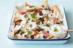 """greek style"" nachos"