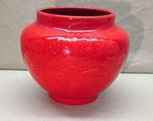 Gladding McBean Flambe Pottery Pot Red Rare and Wonderful $350.00