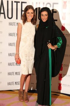 Olivia Palermo and Hind Beljafla in DAS