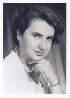 Rosalind Franklin.  The British-born chemist did pioneering work that led to the discovery of the structure of deoxyribonucleic acid, or DNA, the set of genetic instructions that tell cells how to carry out all of their normal activities.
