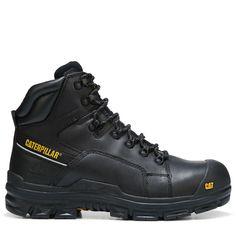 c23a2ef27200a4 Caterpillar Men's Struts Waterproof Composite Toe Work Boots (Black Leather)