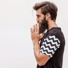 Image result for mens medium hair with beard