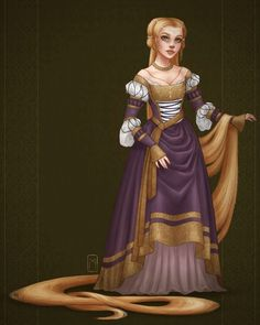 century German style, Tangled, Rapunzel The artist : Margot Denise Rapunzel Flynn, Disney Rapunzel, Princess Rapunzel, Princess Art, Disney Girls, Princess Tattoo, Punk Princess, Disney Fan Art, Disney Style