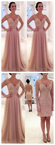 Princess prom dress,Prom dress 2016,Tulle prom dress,V-neck prom dress,Lace prom…