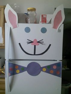 Our Easter fridge art!