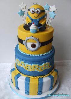 zuccherofondente: Torta Minions!!!!!  http://zuccherofondente.blogspot.it/2017/02/torta-minions.html