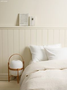 Reflections of whites off white paint colors, off white paints, stylish bedroom, cozy Decor, White Duvet, Bedroom Design, Bedroom Layouts, Bedroom Decor, Minimalist Bed, Wall Colors, Bedroom Wall Colors, Home Decor