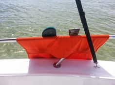 SurfMonkey Boat Rail Organizer Bags use industrial velcro and will hold whatever you throw at it