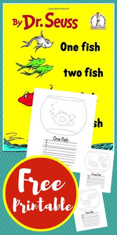 Dr Seuss One Fish Two Fish Red Fish Blue Fish free printable unit study homeschool preschool