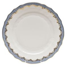 Fish Scale White - Lt Blue Service Plate  | Gracious Style