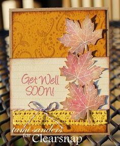 Card Sketch # 5 - Fall Card Featuring Clearsnap Colorbox Rollagraph, Dye Ink, & Archival Dye Ink | Stamping Technique by Tami Sanders