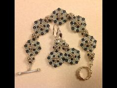 Classic Crystal Earrings and Bracelet Tutorial - YouTube