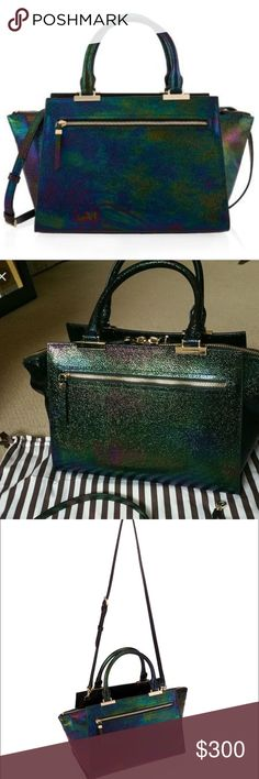 Henri Bendel Gotham Handbag Gotham Bag, iridescent/black in color. Worn for one winter season, owned less than a year. In amazing condition. Very beautiful and attention grabbing bag. Love having this bag but it must go!  Perfect for holiday and even evening and edgy styling. henri bendel Bags Satchels