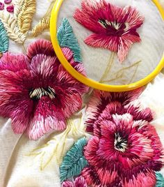 embroidery stitches design Flower embroidery on tulle by Ignancia Jullian - Dress in beautiful blooms Dense Flower Embroidery on Tulle Turns Clothing into Wearable Bouquets hand embroidery types of stitches Embroidery Work At Home Crewel Embroidery Kits, Embroidery Flowers Pattern, Embroidery Patterns Free, Learn Embroidery, Hand Embroidery Designs, Embroidered Flowers, Machine Embroidery, Pattern Flower, Art Patterns