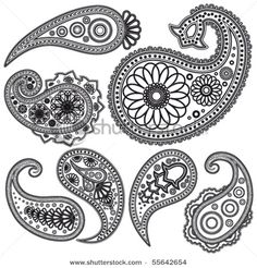 Paisley Patterns. Print these and make a mosaic?